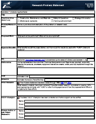 "Form 2548 (PROBSTAT) ""Research Problem Statement"" - Texas"