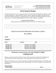 """No Consent Form"" - Ohio"