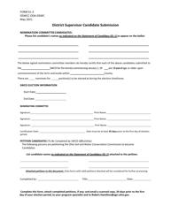 "Form EL-3 ""District Supervisor Candidate Submission"" - Ohio"