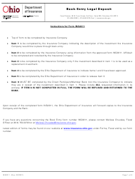"""Form INS2011 """"Book Entry Legal Deposit"""" - Ohio"""