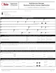 "Form INS3062 ""Self-service Storage Business Entity License Application"" - Ohio"