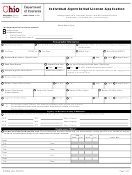 """Form INS3090 """"Individual Agent Initial License Application"""" - Ohio"""