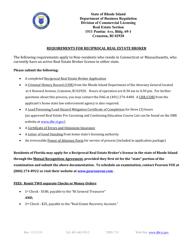 """Reciprocal Real Estate Broker Application"" - Rhode Island"