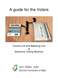 """""""A Guide for the Voters: Control Unit and Balloting Unit of Electronic Voting Machine"""" - India"""
