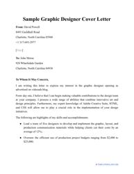 "Sample ""Graphic Designer Cover Letter"""