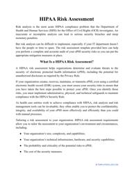 """""""HIPAA Risk Assessment Template"""""""