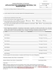 "Form EC-1 ""Application for Consumable Material Tax Registration"" - Kansas"