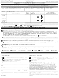 """Form SF-180 """"Request Pertaining to Military Records"""", Page 2"""