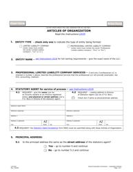"Form L010 ""Articles of Organization"" - Arizona"