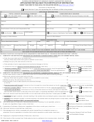 "Form HSMV82363 ""Application for Salvage Title/Certificate of Destruction"" - Florida"