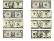 """One, Five and Ten Dollar Bill Templates"""