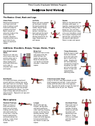 """Resistance Band Workout Sheet- Pima County Employee Wellness Program"""