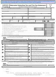"Form 6 ""Nebraska Sales/Use Tax and Tire Fee Statement for Motor Vehicle and Trailer Sales"" - Nebraska"