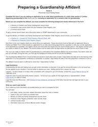 """Form 5 (PFA733) """"Guardianship Affidavit"""" - British Columbia, Canada"""