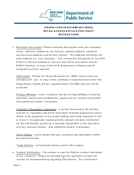 """Instructions for """"Energy Services Company (Esco) Retail Access Application Form (Raaf)"""" - New York"""