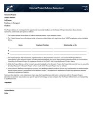"Form 1688 ""External Project Advisor Agreement"" - Texas"