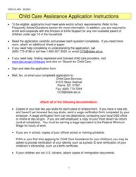 "Form DSS-CC-950 ""Child Care Assistance Application"" - South Dakota"