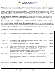 """Instructions for QME Form 105 """"Request for Qualified Medical Evaluator Panel (Unrepresented Employee)"""" - California"""