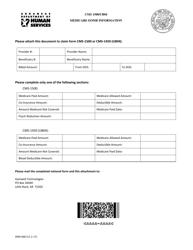 "Form DMS-600 ""Cms 1500/Ub04 Medicare Eomb Information"" - Arkansas"