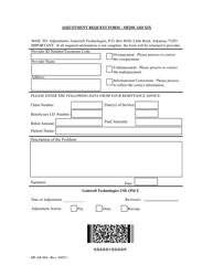 """Form HP-AR-004 """"Adjustment Request Form - Medicaid Xix"""" - Arkansas"""