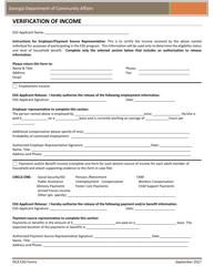 """""""Verification of Income"""" - Georgia (United States)"""