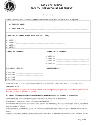 """Facility User Account Agreement"" - Florida"