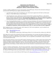 """""""Law Enforcement Agency (Lea) Aircraft Request"""" - Missouri"""