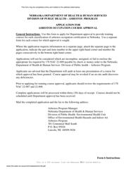 "Form 6 ""Application for Asbestos Occupation Course Approval"" - Nebraska"