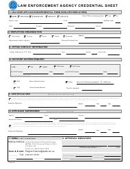 """""""Law Enforcement Agency Credential Sheet"""" - New Mexico"""