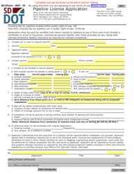 "SD Form 0947 ""Pipeline License Application"" - South Dakota"