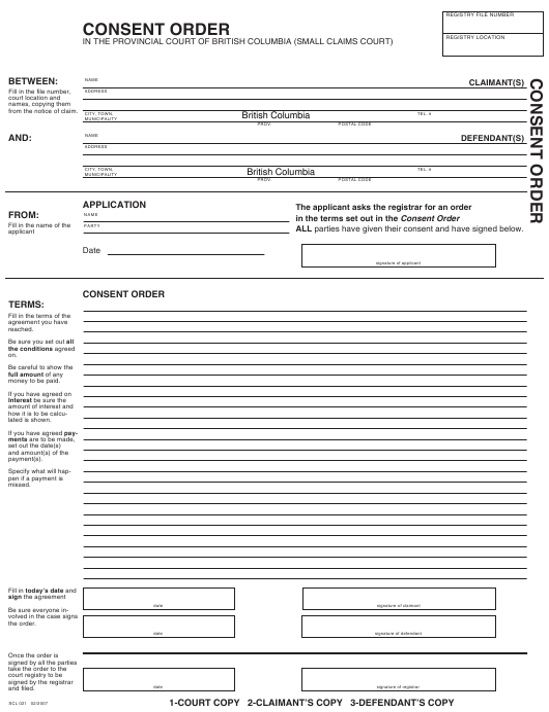 Form SCL021 Printable Pdf