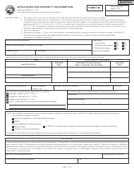 """Form 136 (State Form 9284) """"Application for Property Tax Exemption"""" - Indiana"""