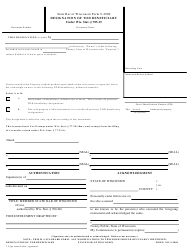 Dd Form 2894 Download Fillable Pdf Designation Of Beneficiary Information Templateroller