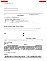 Quitclaim Deed Form - California