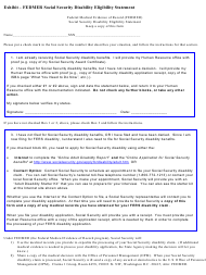 Exhibit - Fedmer Social Security Disability Eligibility Statement