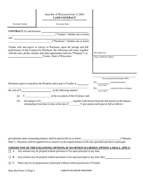 Form 11-2003  Printable Pdf