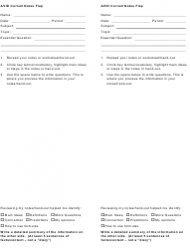 Avid Cornell Notes Flap Template
