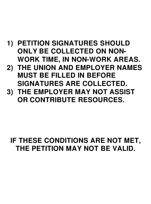"""Petition for Decertification Template (Rd) - Removal of Representative"" Download Pdf"
