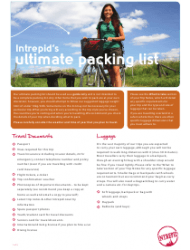 Ultimate Packing List - Intrepid