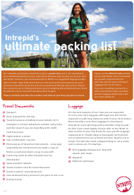 """Ultimate Packing List - Intrepid"""