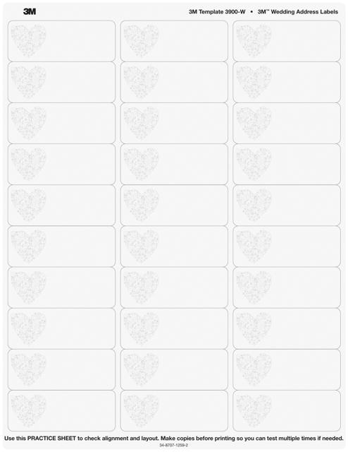 wedding address label templates download pdf