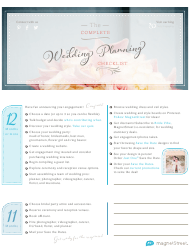 """The Complete Wedding Planning Checklist"""