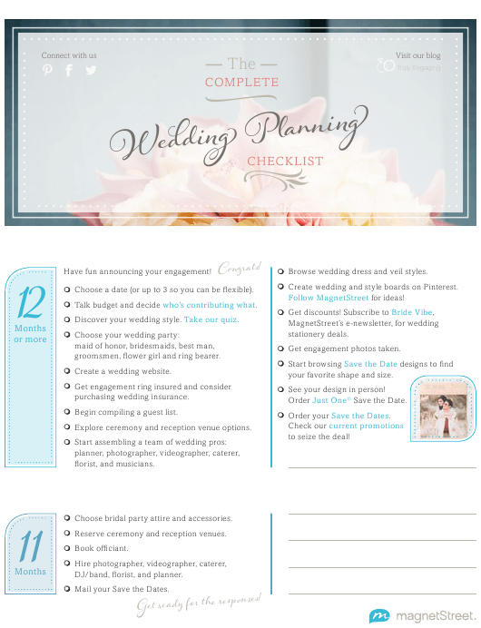 """The Complete Wedding Planning Checklist"" Download Pdf"