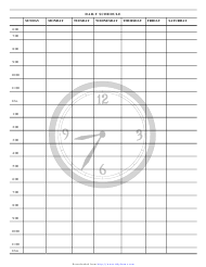 """Daily Schedule Template"""