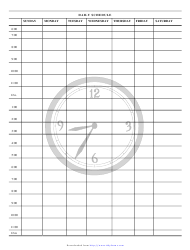 Daily Schedule Clock Template