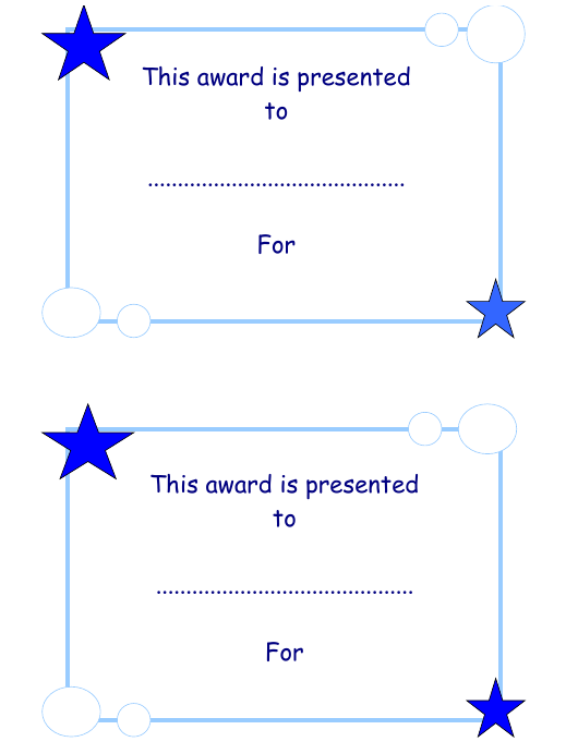 """Award Certificate Template"" Download Pdf"