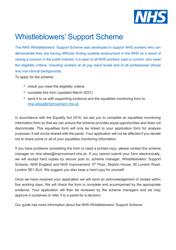 """Whistleblowers' Support Scheme Application Form"" - United Kingdom"
