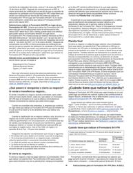 """Instrucciones para IRS Formulario 941-PR """"Planilla Para La Declaracion Federal Trimestral Del Patrono"""" (Puerto Rican Spanish), Page 8"""