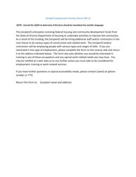 "Form S3P-2 ""Sample Employment Survey"" - Arizona"