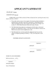 "Form DEP63-030(16) ""Applicant's Affidavit"" - Florida"